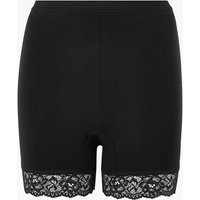 M&S Collection Cotton Rich High Rise Longline Shorts