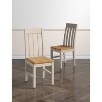 M&S Set of 2 Padstow Slat-Back Dining Chairs P60144768
