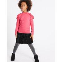 Velvet Pleated Skirt (3-14 Years)