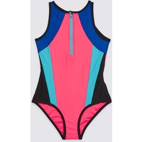 Colour Block Swimsuit with Lycra Xtra Life (3-16 Years)