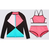Swimsuit Set with Sun Safe UPF50+ (5-16 Years)
