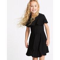 Ponte Frill Sleeve Dress (3-16 Years)