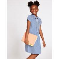 Girls' Gingham Pure Cotton Zip Dress