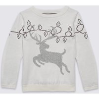 Cotton Rich Christmas Stag Jumper (3 Months - 9 Years)