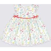 Pure Cotton Floral Print Party Dress