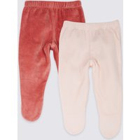 2 Pack Cotton Rich Velour Crawlers