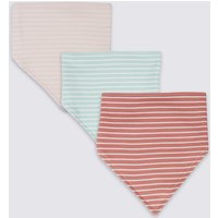 3 Pack Pure Cotton Striped Dribble Bibs