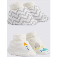 2 Pack Cotton Rich Booties