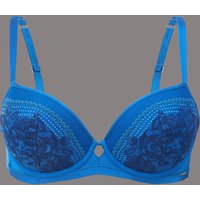 Autograph Lace Embroidered Padded Balcony Bra A- G