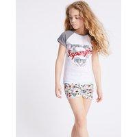 Supergirl Cotton Short Pyjamas (5-14 Years)