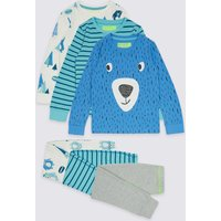 3 Pack Cotton Rich Printed Pyjamas (9 Months - 8 Years)