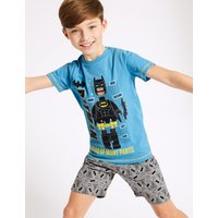 Batman Printed Short Pyjamas (3-10 Years)