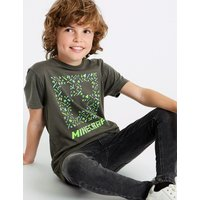 Pure Cotton Minecraft Top (3-16 Years)
