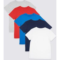 5 Pack Short Sleeve Tops (3-16 Years)