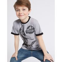 Cotton Rich Printed T-Shirt (3-16 Years)