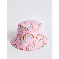 Kids' Water Repellent Rainbow Print Hat