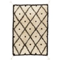 Arnara-villamatto 200 x 300 cm Luonnonvalkoinen