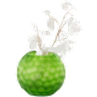 BJÖRKHAGEN-maljakko, pyöreä Vihreä