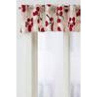 ÄPPELKVIST-kappakangas Vaalea beige/punainen