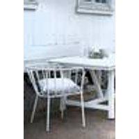 ANTIBES-tuoli, jossa käsinojat, 2/pakk. Valkoinen