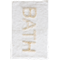 BATH-kylpyhuonematto, 50x80 cm Valkoinen/kullanvärinen