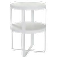 ANDORRA-pikkupöytä ø 50 cm Valkoinen/valkoinen