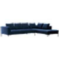 ALBA-sohva, 3:n istuttava - divaani oikea Tummansininen