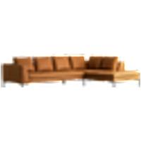 ALBA sohva, 3:n istuttava divaani oikea Konjakinruskea