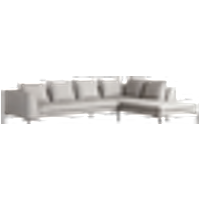 ALBA-sohva, 3:n istuttava - divaani oikea Harmaa