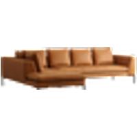 ALBA sohva, 3:n istuttava divaani vasen Konjakinruskea
