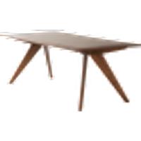 CONNECTICUT ruokapöytä 198x98 cm Mahonginruskea