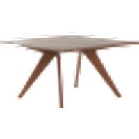 CONNECTICUT ruokapöytä 130x130 cm Mahonginruskea