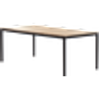 CALABONA-ruokapöytä 100x200 cm Musta