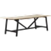 CROSBY ruokapöytä 100x220 cm Puunvärinen/musta
