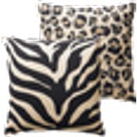 ANIMALS tyynynpäälliset, 2/pakk. 45x45 cm Musta/beige