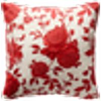 BIG ROSES tyynynpäällinen 60x60 cm Punainen/valkoinen