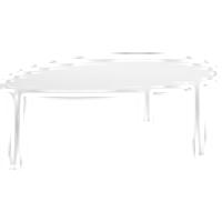 BIBBONA sohvapöytä 76x109 cm Valkoinen