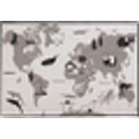 AGNESE matto sileä 120x170 cm Valkoinen/musta