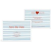 "Save-the-Date Karte ""Soft Stripes"""
