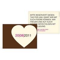 "Save-the-Date Karte ""Großherzig"""