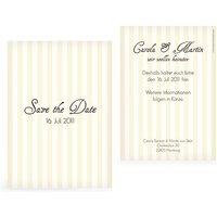 "Save-the-Date Karte ""Gestreift"""