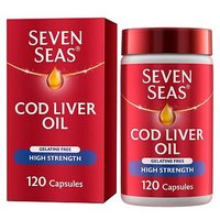 Seven Seas Simply Timeless Omega-3 Fish Oil Plus Cod Liver Oil High Strength - 120 One-A-Day Capsules