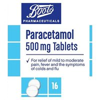 Boots Pharmaceuticals Paracetamol 500mg Tablets    16 Tablets