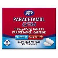 Boots Paracetamol Extra (Caffeine, Paracetamol) -  16 Tablets