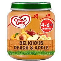 Cow & Gate Delicious Peach & Apple from 4-6m Onwards 125g