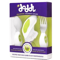 Doddl 3 piece cutlery set green