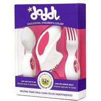 Doddl 3 piece cutlery set pink