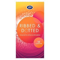 Boots Ribbed and Dotted Condoms 12 pack