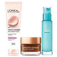 LOreal Paris Dry Skin 3 Step Prep Kit - Cleanse Exfoliate Hydrate