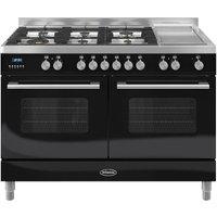 BRITANNIA Delphi 120 Dual Fuel Range Cooker - Gloss Black, Black